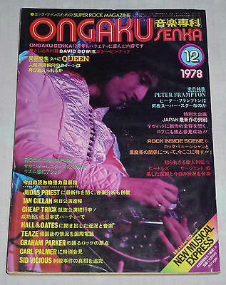ONGAKU SENKA Japan magazine 12/1978 ! QUEEN JAPAN Cheap Trick JUDAS PRIEST Bowie