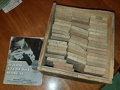 Vintage Research Laboratory Wood Study Kit Timber Engineering Co. 54 Samples