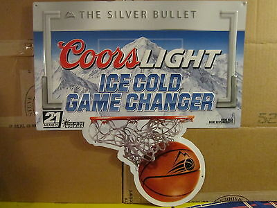 Coors Light Ice Cold Game Changer Aluminum Tacker Sign