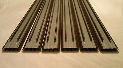 LOT OF 6 Brown Masonite Premdor Ceco Stanley Door Bottom Weatherstrip Sweep
