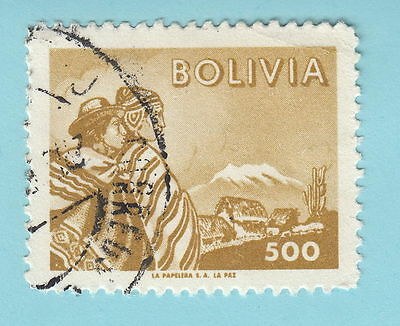 BOLIVIA stamp 1960 500 S414 Coyas on mountainused s217