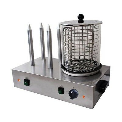 New Electric Commercial Four Stick Hot Dog Machine Maker & Grill
