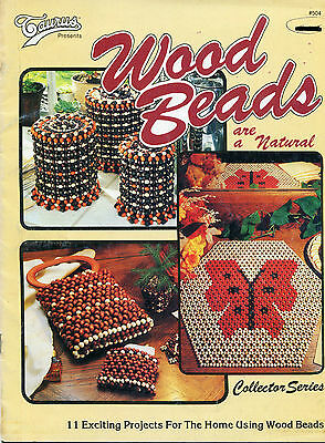 Wood Beads Natural 11 Projects Collector Series Canister Covers Purse Bath Set