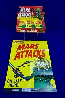 2012 Mars Attacks Space Adventure Trading Cards 24 Pack With Box Topps Heritage+
