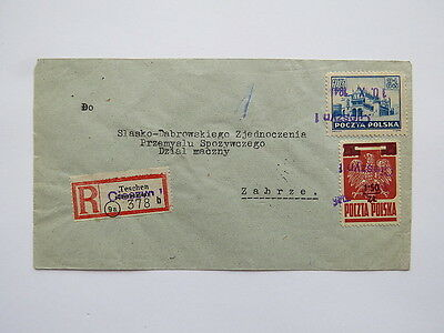 Poland - Envelope Cover - 3 Provisional Cancellation From Cieszyn 1