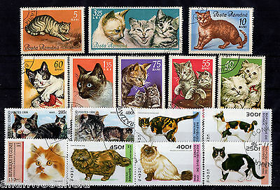 Nice Selection Of Cats Stamps   Used   (1607054)