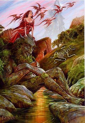 Briar Earth Father (with Dragons) Greeting Card