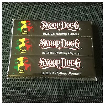 3 Pack *snoop Dogg* (King Size Slim) Rolling  Papers