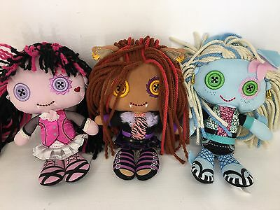 Monster High - Draculaura, Clawdeen & Lagoona Blue - Plush Doll Lot