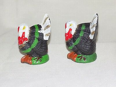 Vintage Turkey Hard Plastic Cake Decorations