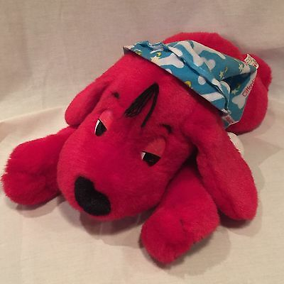 "Clifford The Big Red Dog Sleep & Snore 16"" Long Stuffed Plush Doll W/ Sound"
