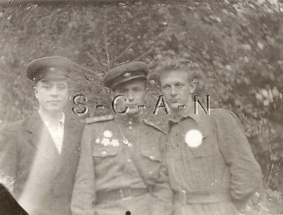 WWII Original Vintage Russian RPPC- Soldier- Medals- Uniform- Occupied Germany