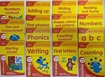 Starting School Easy Learning Pack 15 Workbooks Letters Numbers Kids Ages 3+ New