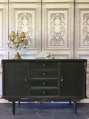 Charcoal French Style Vintage Sideboard Cabinet