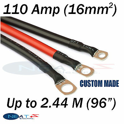 "Up To 2.44 M (96"" ) RED 110 Amp Car Battery Power Cable Starting Motor Lead"