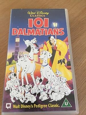 Walt Disney Classics VHS Video 101 Dalmatians in Great Used Condition