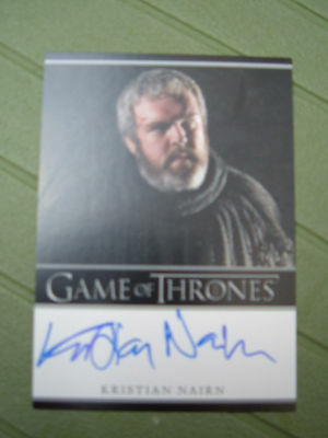 Game of thrones season 1 Kristian Nairn Hodor Bordered Autograph Signed card