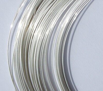 Fully Hard Sterling 925 Silver Round Wire 0.5,0.8,1,1.2,1.5mm  Bead,Pendant,Ring