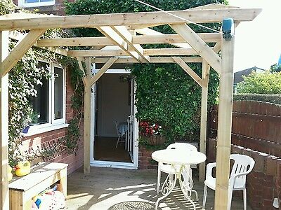 Wooden Garden pergola 3.0 X 3.0 pressure treated timber solid  construction