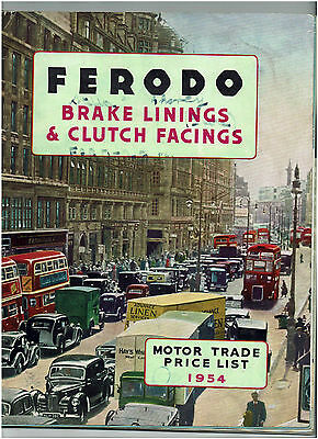Vintage Ferodo Brake Linings Catalogue 1954 - For Trucks Cars And Buses