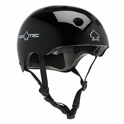 "PRO-TEC HELMET ""The Classic"" Multi-sport - Bike / Skate - GLOSS BLACK - XS"