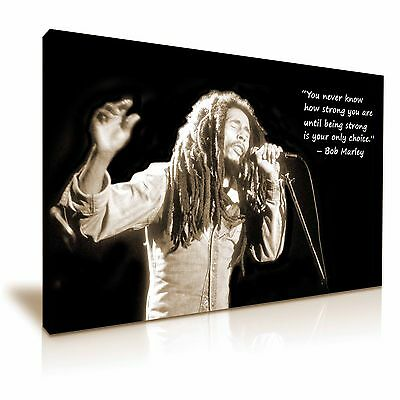 Bob Marley Quote Music Canvas Wall Art Picture Print 76x50cm / 30x20 inch