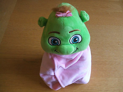 """SHREK baby Girl Dreamworks Plush Stuffed Toy With Blanket - 10"""" - Collectable"""