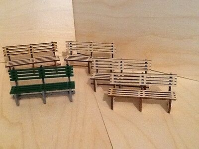 Pack Of Five Platform Bench Seats In Easy To Build Kit Form. Garden Railways.