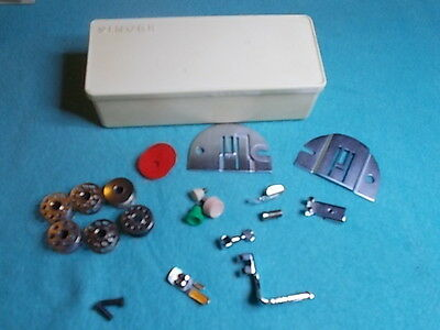 Vintage SINGER ACCESSORY BOX with various Sewing Accessories - Collectable