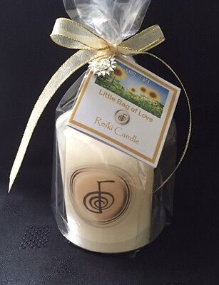 Reiki Candle Gift Rustic Ivory Pillar Candles Meditation Candle 3 Sizes