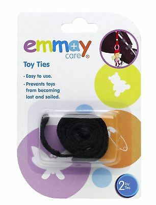 2 Pack Emmay Care Toy Ties Safety Strap Stroller Buggy Pram Hanging Safety