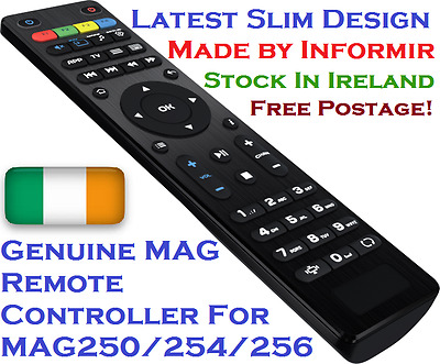 Genuine MAG Remote Controller MAG250/MAG254/MAG256 New Slim Design Emigrantas TV
