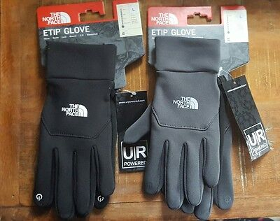 6be10cac1 THE NORTH FACE TNF Men's Etip Gloves Black Or Gray NWT Size L Large Touch  Screen