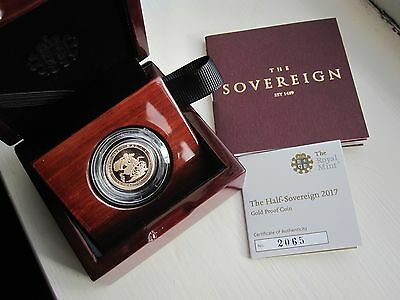 2017 Gold Proof Half Sovereign Royal Mint Box & C.O.A (Still Sealed)