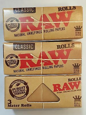 Brand New Raw Classic Rolls 3pcs Of 3 Meter Each Rolling Papers King Size Papers