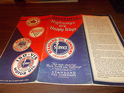 1932 STANDARD OIL Minnesota Vintage Road Map - $20.00 | PicClick