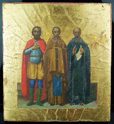 Antike russische IKONE 19.Jh. - Old Russian ORTHODOX ICON 19th Century