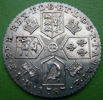 George II (3rd) 1787 Silver Shilling (12 Pence)