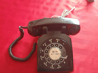 vintage rotary corded NE-500 phone black northern electric