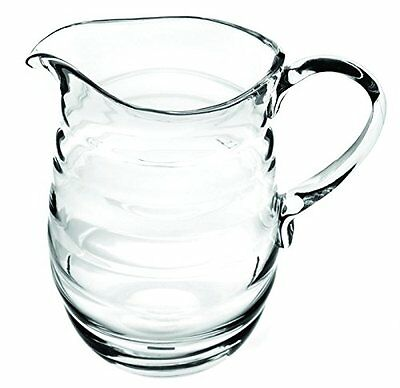 Sophie Conran Large Crystal Clear Glass Water Wine Pitcher Jug w Handle 2L 3.5pt