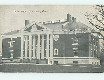 Unused Divided Back CITY HALL SCENE Lancaster Massachusetts MA hs6013