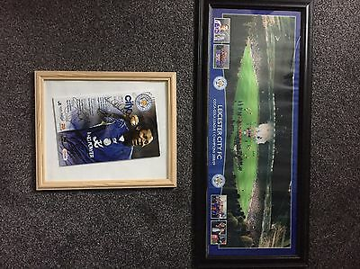 sports memorabilia leicester city Football Club, Autographs And Stadium Picture