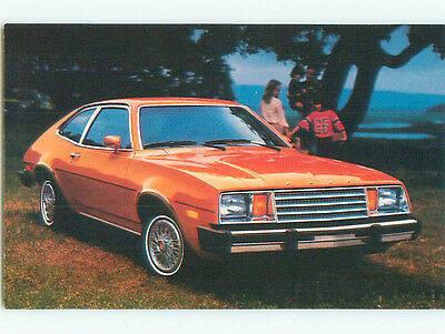 Unused 1980 postcard ad FORD PINTO CAR k8982