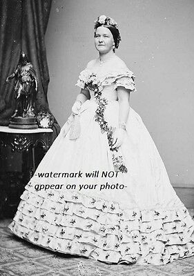 Mary Todd Lincoln PHOTO Portrait President Abraham Lincoln Wife
