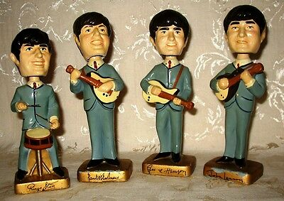 "Original Car Mascot Beatles Bobble Head Dolls from 1964 at 8"" inches in height"