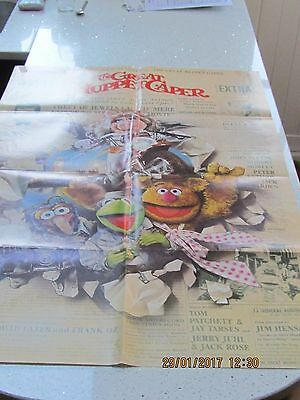 The Muppets  The Great Muppet Caper Original 1981 One-Sheet Poster Folded Ex/nm