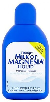 Milk Of Magnesia, 200ml - Relieve Indigestion Heartburn Stomach Excess Acid Pain