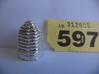 Vintage Solid Silver Thimble with Bee Hive Decoration - London / 1984 / C&CC