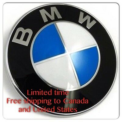 NEW 78mm BMW FENDER GRILL Emblem Z4 / X5 BMW TRUNK Roundel Logo 51141970248