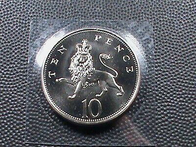 GREAT  BRITAIN    10 pence    1986    BRILLIANT  UNCIRCULATED   ,   MINT  SET